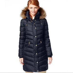 Michael Kors faux fur trim hood puffer coat
